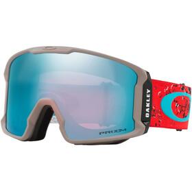 Oakley Line Miner Gafas de Nieve Hombre, arctic fracture red sea/prizm snow sapphire iridium